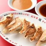 大衆餃子居酒屋 餃子家 龍 - 餃子のタレは広島の川中醤油さんの酢醤油と呉のますやみそさんの味噌ダレ