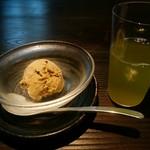 一燈 - 「越味御膳」の 煎茶&ほうじ茶アイス