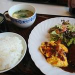 心 - ハンバーグランチ ¥750
