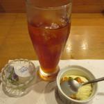 宵月・鮨ダイニング - アイスティーとアイスクリーム
