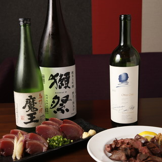 日本酒・ワイン・焼酎も豊富