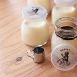 バリスタート コーヒー - 限定メニュー ジャージー牛乳プリン