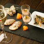 a La Bouteille - シャンパーニュに合わせた前菜の盛り合わせ 秋