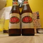 ベトナム屋台酒場 デンロン - 333ビール(バーバーバー?バーバー?)