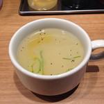 まぜそば凜々亭 - まぜそばに付いてくるスープ