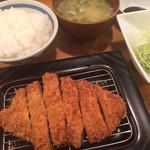 とんかつ かつ寿 - 鹿児島黒豚ロースかつ定食1,650円