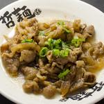 東京発祥豚骨ラーメン 哲麺縁 - 肉増しのカルビをご飯にトッピングも可能です(終了しました)