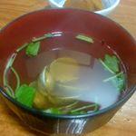 吾作 - お吸い物と小鉢
