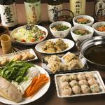 こめらく - 料理写真:鶏つみれとたっぷり野菜鍋コース