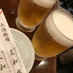 三和楼 - とりあえずの生ビール