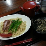 一酵や - レモン塩つけ麺(冷)2017.9.29