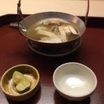 74550730 - 朝採り松茸と鱧