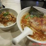 雅知 - あっさり鶏そば + 肉ごはん