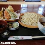 久下屋脩兵衛 - なんばん汁うどん+天ぷら