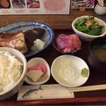 旬菜料理 でんご - 料理写真:焼き魚定食(ほっけ)