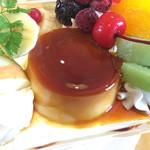 カフェ&レストラン オレンジ - プリンアラモード(680円)