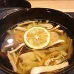 麻布十番 ふくだ - 甘鯛と松茸のお椀