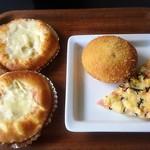 ALDE - チキングラタン(180円) チーズベーコン(150円) キーマカレー(130円) ミックスピザ(150円)