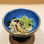 六本木 すし巽 - 煮穴子と生若芽、土佐酢