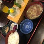 魚一 - 地魚ヒラメ刺定食(^∇^)