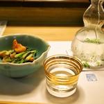 英ちゃん冨久鮓 - 赤貝分葱ぬた & お酒