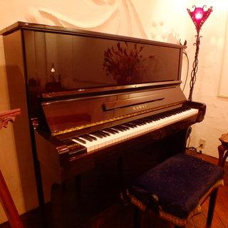 演奏会や発表会に是非!ピアノが目を引きます!