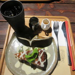 茶菓房 林檎の樹 - 【水出しアイス珈琲 530円】+【あっぷるパイ(HOT) 450円】