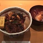 塩竈 すし哲 - ふんわりあなごと柔らか煮だこ(2200円)