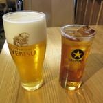 小田保 - 生ビール 500円 & 梅酒ロック 300円