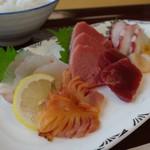 相撲茶屋 大旺 - 「刺身定食」 刺身アップ