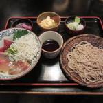 長生庵 - 本日の海鮮丼セット 1400円
