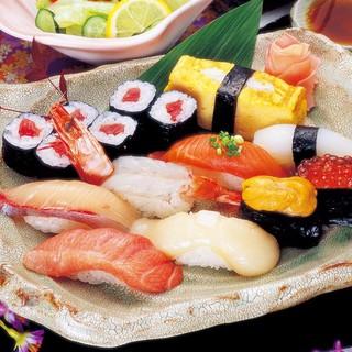 【寿司】厳選された旬のネタをお楽しみ下さい