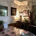 カレーハウス 伽羅 - 個室風店内です。