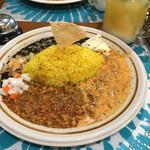 ヨダレカレー - 料理写真:3種のカレー