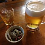 たべもの市場とくがわ - 料理写真:ビール&梅酒ロック