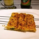 家宴 - パクチーの干し豆腐巻き串焼き(烤豆腐巻)