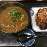 麺八 - 料理写真:カレーうどん530円 とり天150円