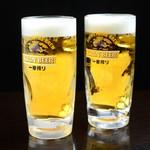 名古屋もつ焼き ひとすじ - 一番はじめに流れ出る麦汁だけをつかった、麦芽100%の贅沢なビール。