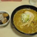 あっぱれ亭 - 赤味噌+チャーシュー飯