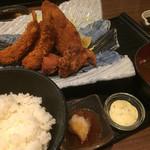 阿久根 魚鈎 - ♪ミックスフライ定食B  ¥1050
