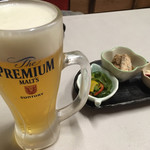 sasanoya - プレモルとお通し             2017.10