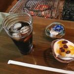 炭火焼 二三更 - 食後のデザート
