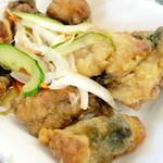 道の駅 松浦海のふるさと館 - アジの南蛮漬け。お惣菜コーナーでゲット。ぶり丼だけだと寂しいので追加しました。