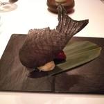 レストラン マノワ - 3品目:黒いフォアグラたいやき