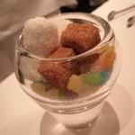 レストラン マノワ - 砂糖と一緒にこんぺいとう☆これも食べました(笑)