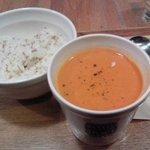 スープ・ストック・トーキョー - オマール海老のビスク、レギュラーセット(w/白胡麻ご飯)