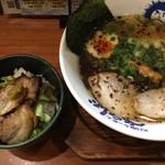 べらしお - こくまろラーメン塩☆★★☆炙りチャーシュー丼