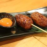 炭焼きBAR 心 - 焼鳥 つくね 蘭王、チーズ、おろしポン酢の3種類あり! (350)今宵は蘭王を☆