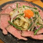 炭焼きBAR 心 - CoCoRo名物 肉ボナーラ(1280)