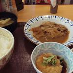 すき家 - おろしポン酢豚皿定食~☆